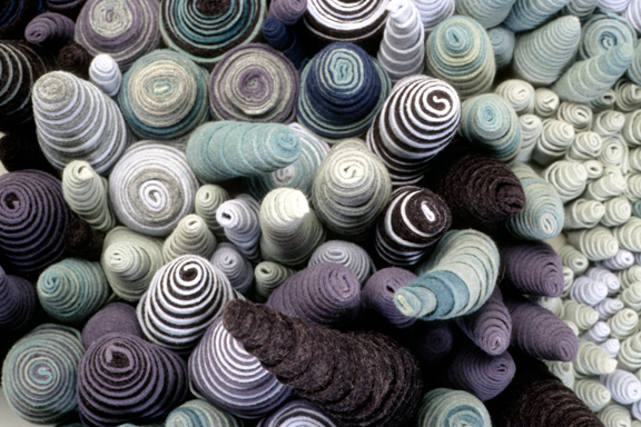 Rolled, Dyed Wool