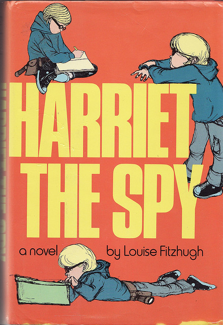 Harriet the Spy by Louise Fitzhugh, 1964. I read it somewhere around 1967.