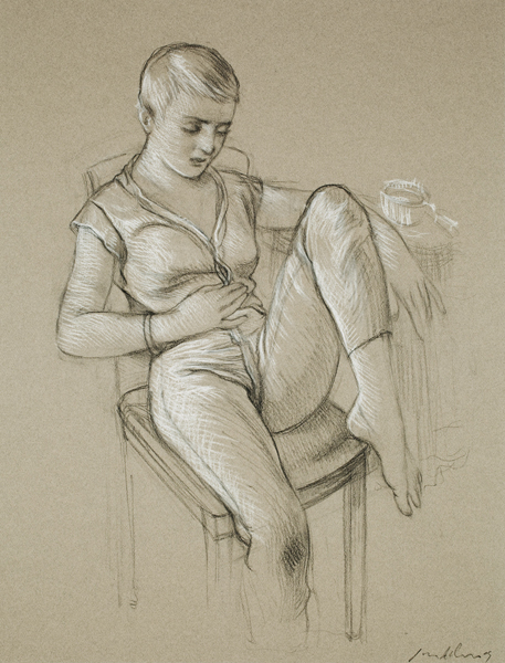 Jeannie Seated with Cup