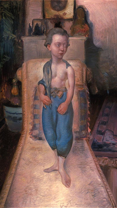 boy with bluepants