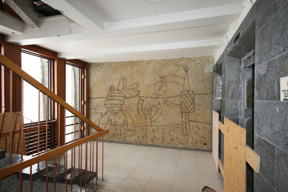 One of the Murals by Picasso on a staircase. Copyright Siri Wolland.