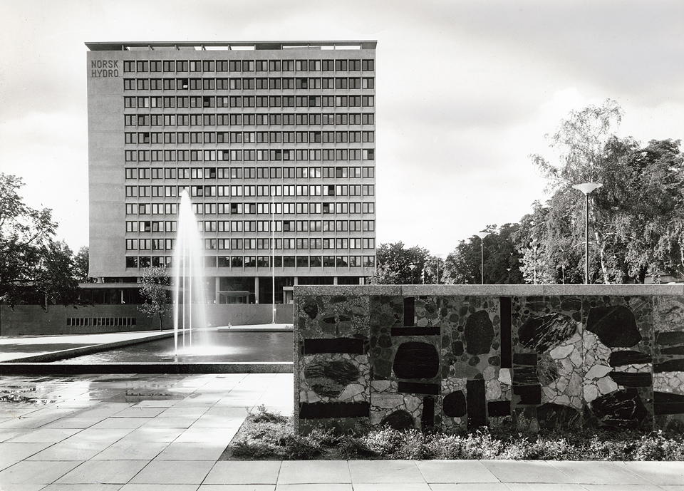 Buidling for Norsk Hydro in Oslo (1960-1962) Photograph copyright of the National Museum