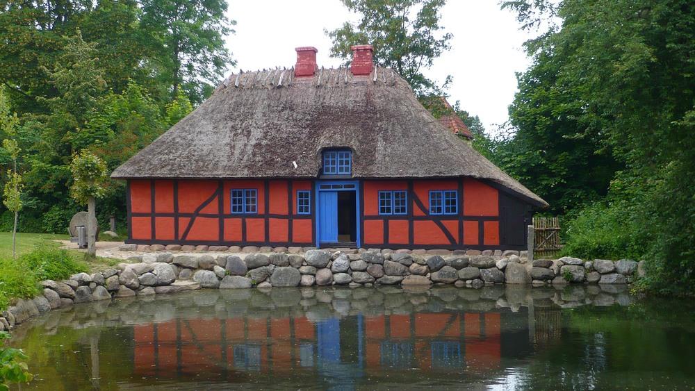 Forge from Ørbæk, Funen rebuilt in Frilandsmuseet, the open-air museum north of Copenhagen.