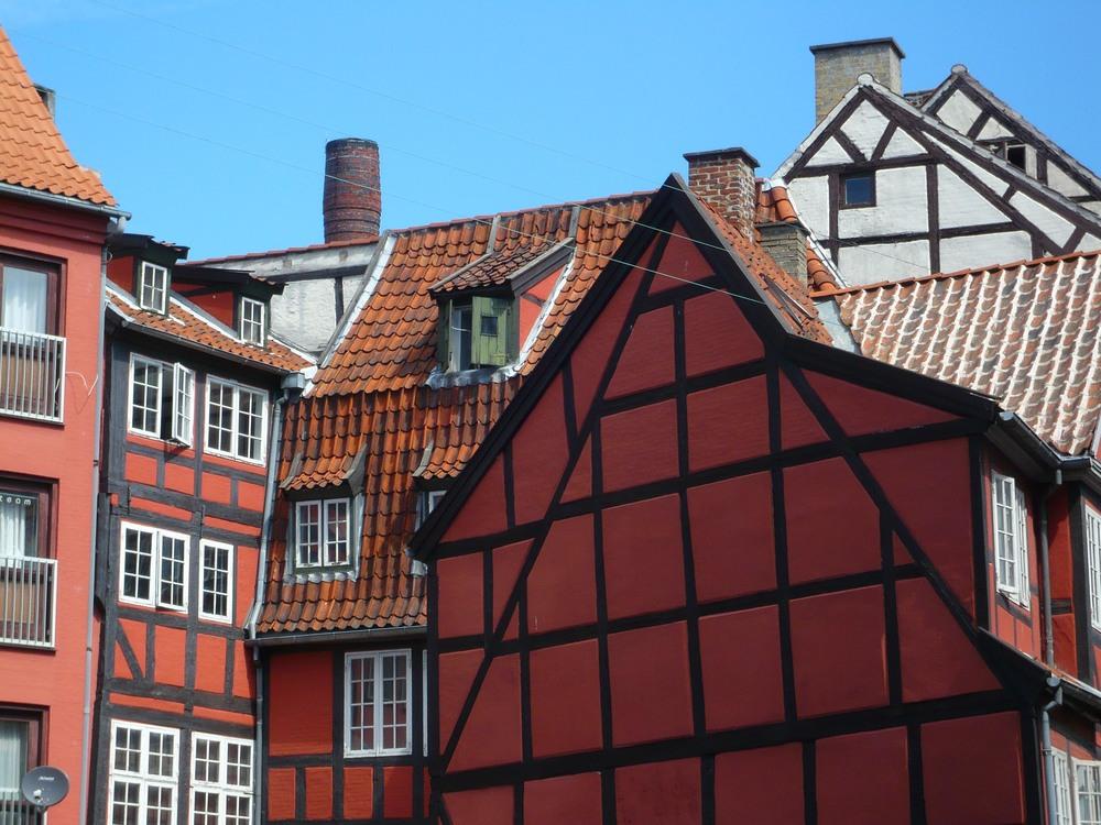Timber-framed buildings on Grønnegade in Copenhagen