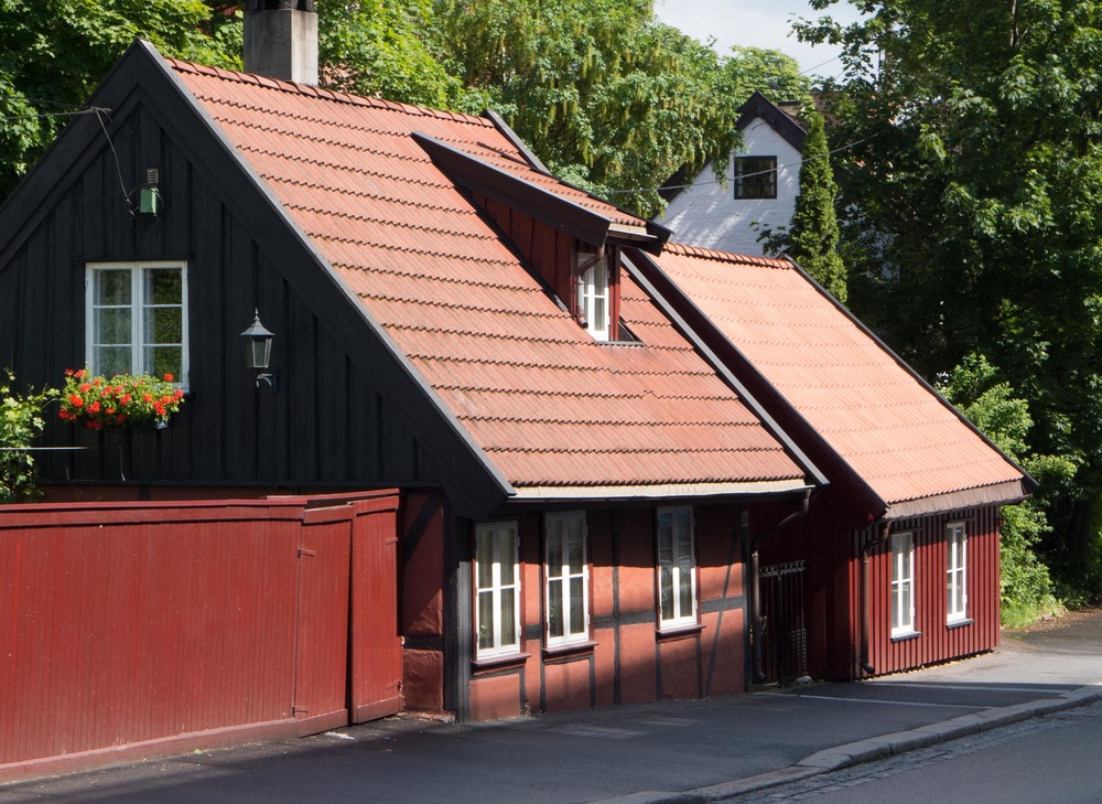 Traditional houses surviving in Oslo