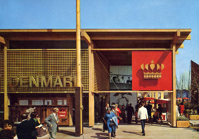 The Danish pavilion at the World Fair in New York 1964-65