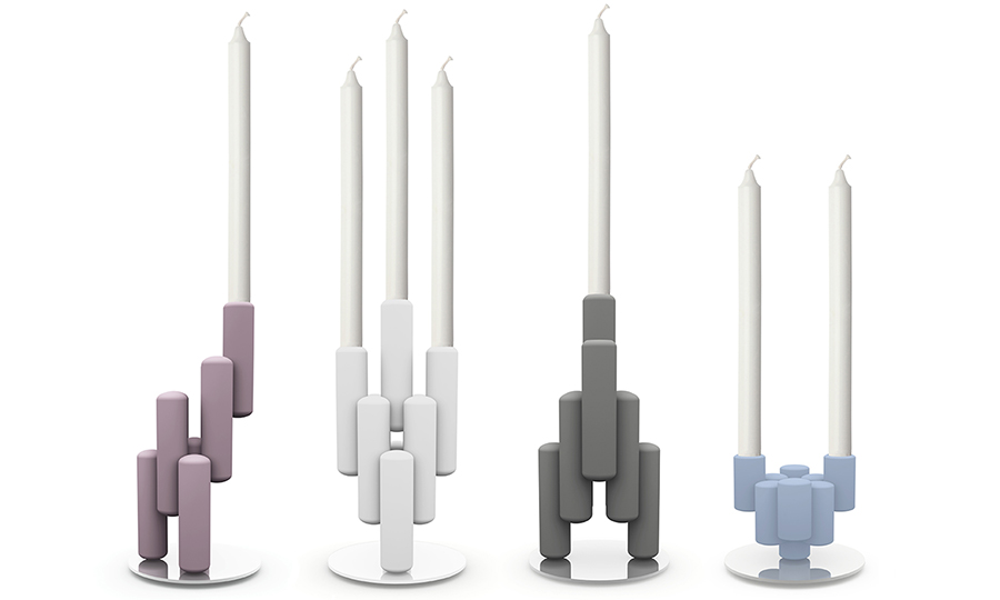 Candle sticks in Corian by John Sebastian