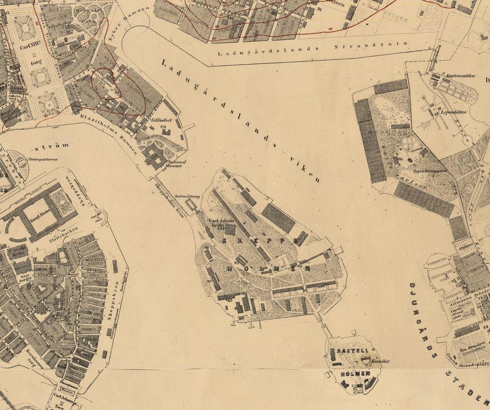 Skeppsholmen in 1870