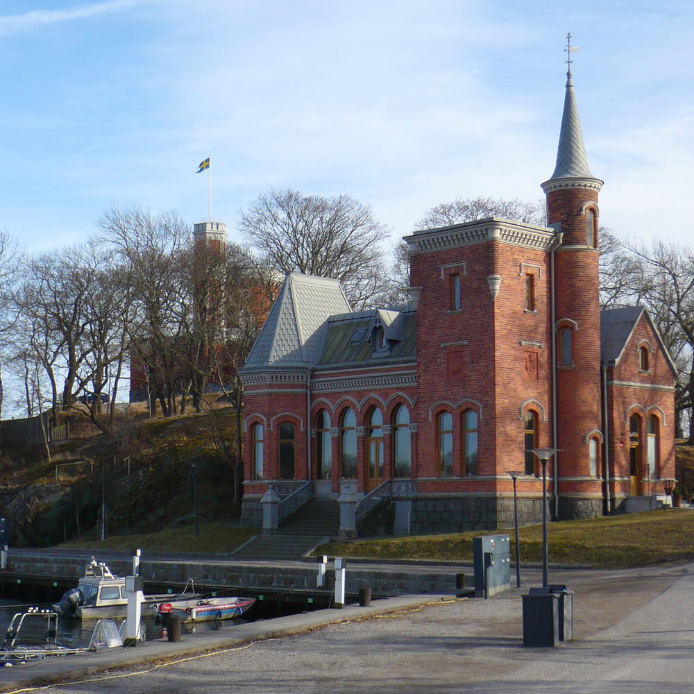 The royal skating pavilion with the Kastellet beyond