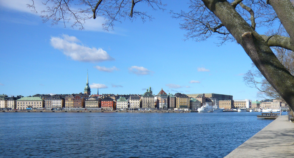 Gamla Stan - the Old Town - from the west side of Skeppsholmen