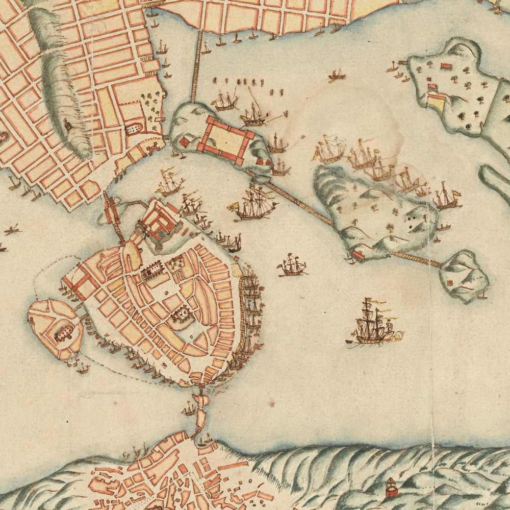 Gamla Stan and Skeppsholmen in 1642