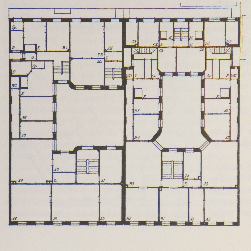 plans of early apartment buildings — danish design review