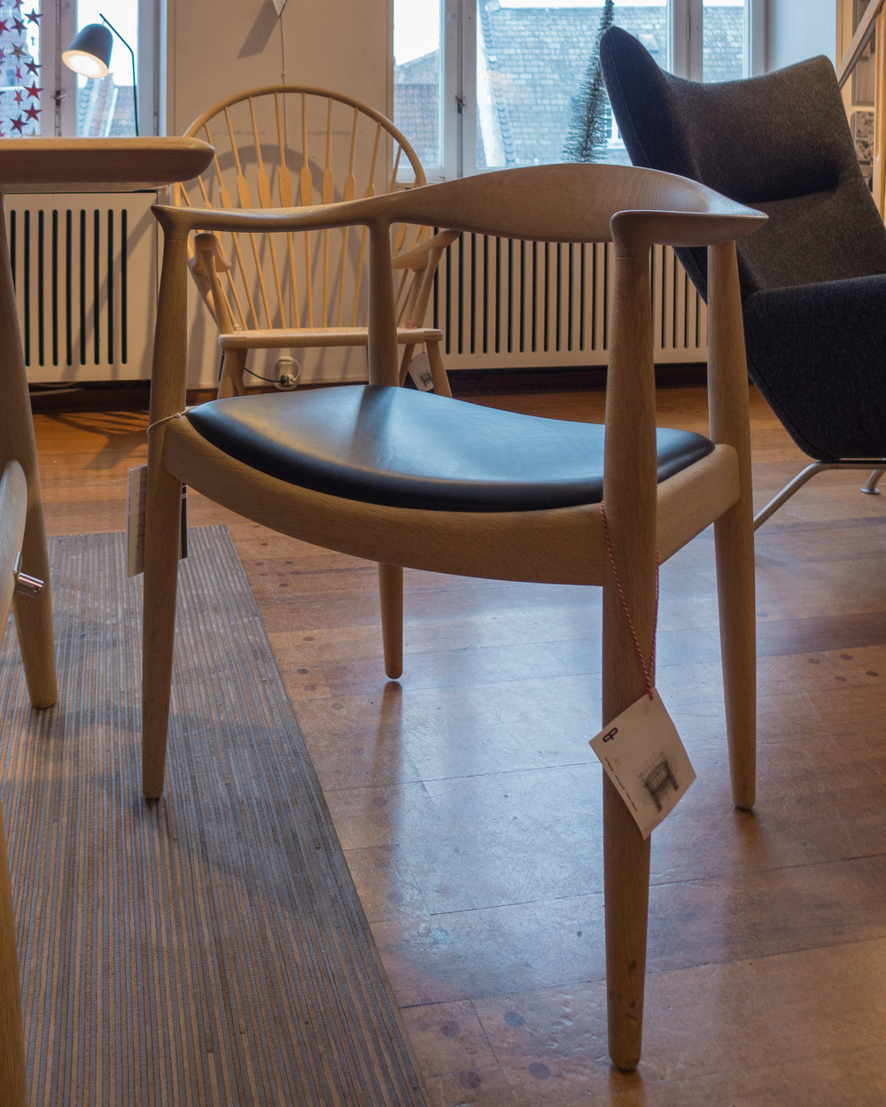 The Chair By Hans Wegner Is Still In Production By The Danish Company PP  Møbler ... Here Photographed At Illums Bolighus ... The Furniture And  Design Store ...