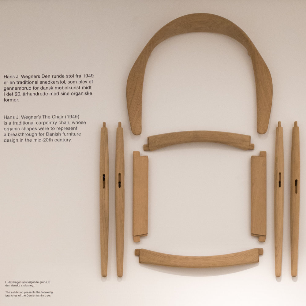 The Separate Parts Of A Round Chair Shown In The Introduction To Their New  Display Of Chairs In Designmuseum Danmark
