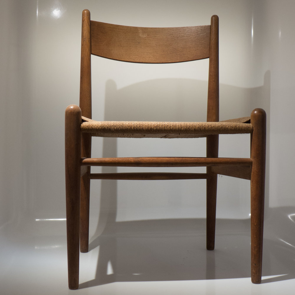 The Shaker Style Chair CH36 (top) By Hans Wegner From 1962 With The Dining  Chair CH23 Designed By Wegner In 1950 Shown From The Side And A Detail Of  The ...