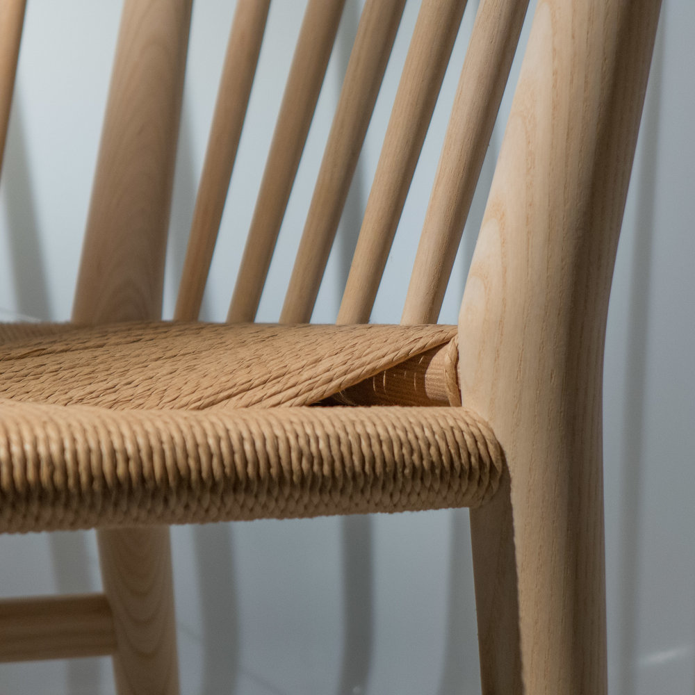 chairs with seats in paper cord — danish design review