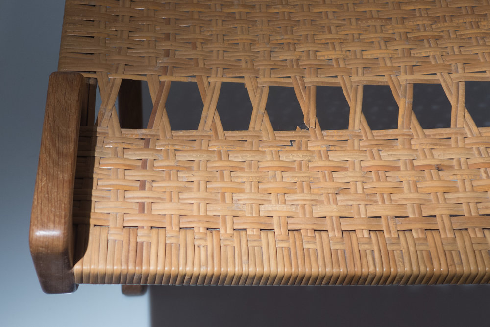Bull Chair JH518 By Hans Wegner 1961   Here The Pattern Of The Weave Has To  Accommodate The Deep Bow To The Front Of The Chair So The Basket Pattern  Proper ...