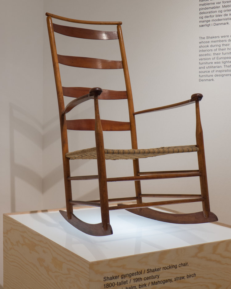 the shakers furniture. Designmuseum Danmark Gives This Rocking Chair From The United States A Prominent Place In Introduction At Entrance To Their Gallery Of Modern Danish Shakers Furniture