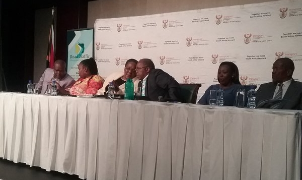 Transport Minister Dipuo Peters and officials at the Summit