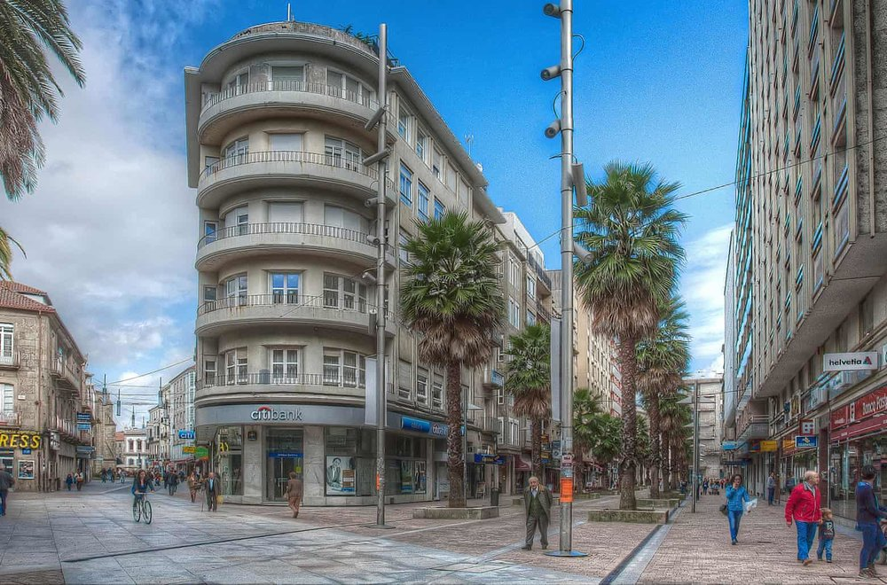 Central Pontevedra after the changes. Photograph: Luis Pereiro Gomez