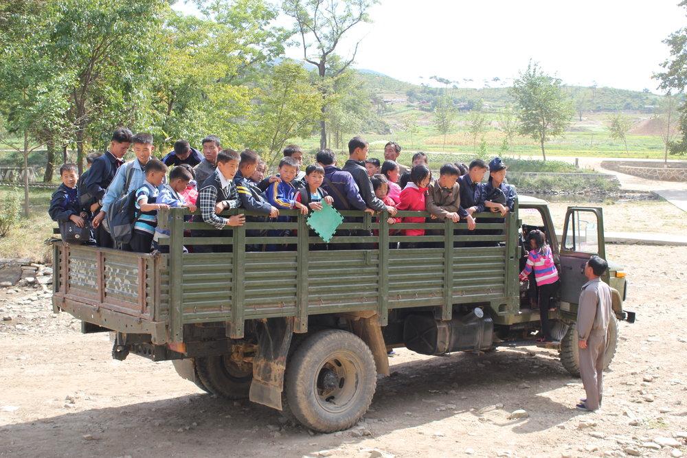 A school bus in Myanmar
