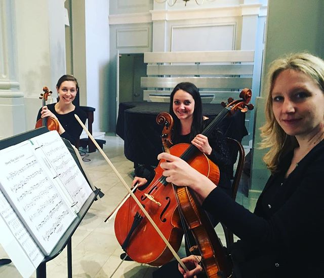 Looking forward to the ceremony! #tworiverschambermusic #springwedding #marylandweddings #weloveourjob #stringquartet
