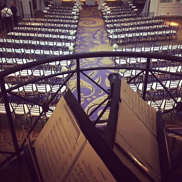 From the balcony at the Mayflower Hotel! #dcweddings  #stringquartet #tworiverschambermusic @themayflowerhoteldc
