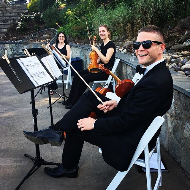 We love our jobs! #tworiverschambermusic  #virginiawedding #stringquartet #novawedding