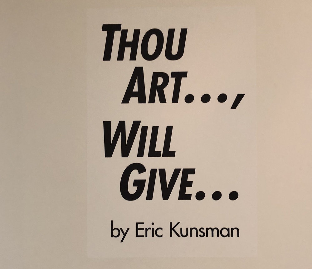 Thou Art..., Will Give... at the Pittsburg State University