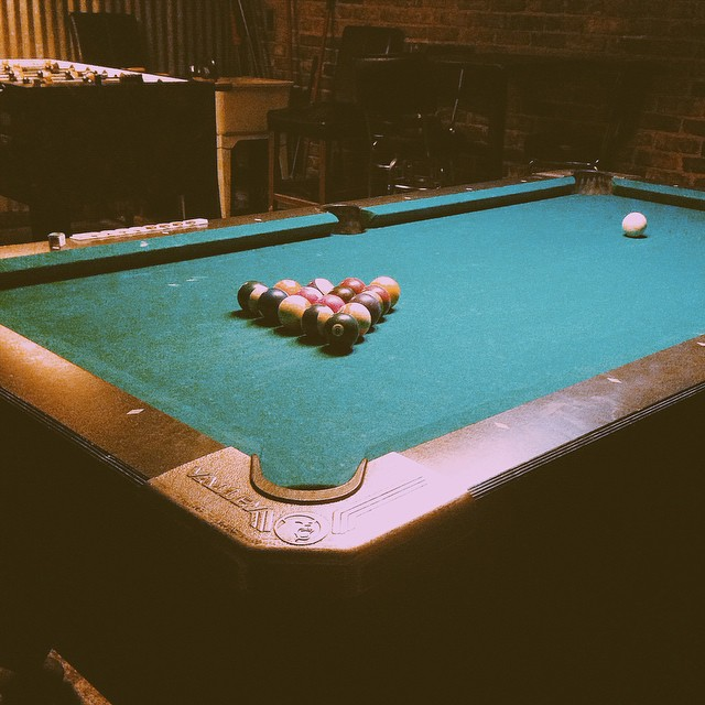 Tuesday night pool night with @lcmhsu.