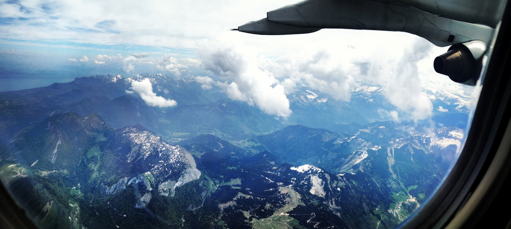 Flying over the  French alps