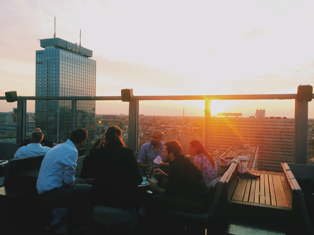 The Sunset at House of Weekend Rooftop
