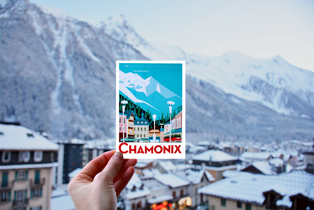 Chamonix Post Card