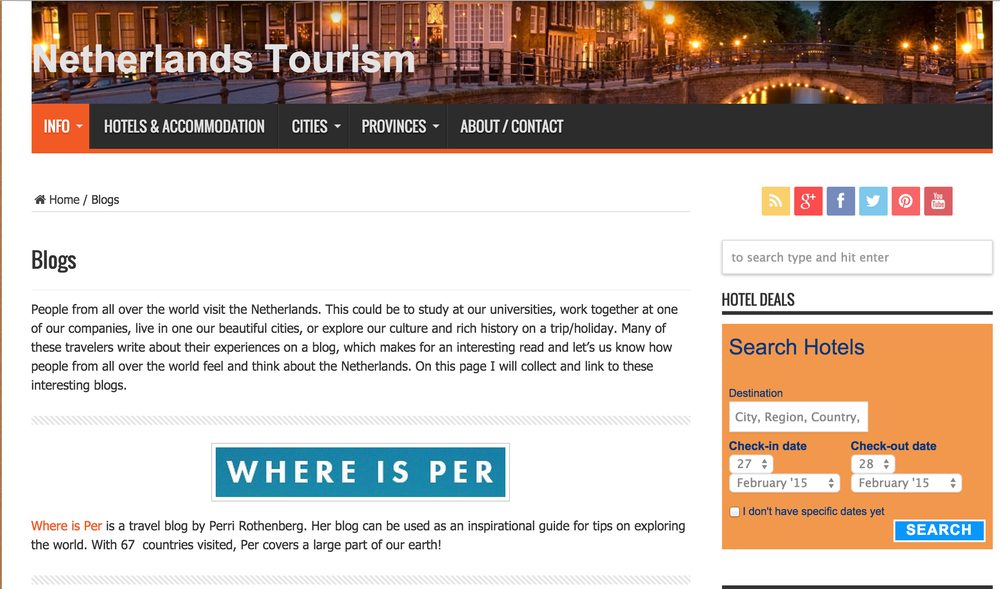 netherlands tourism where is per
