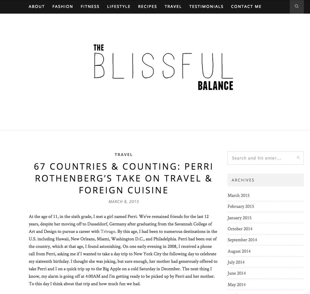 the blissful balance interview