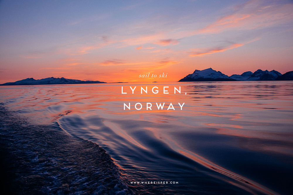 sail to ski lyngen alps norway