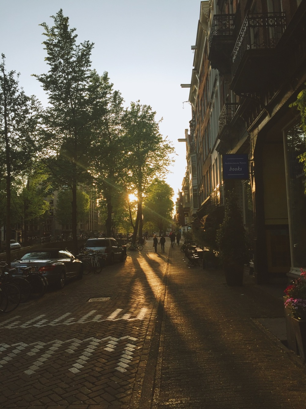 sunsets in amsterdam