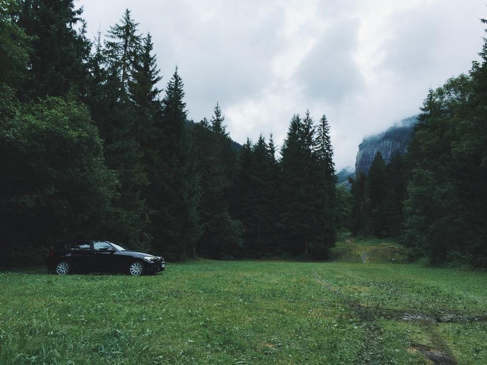 parked in kandersteg