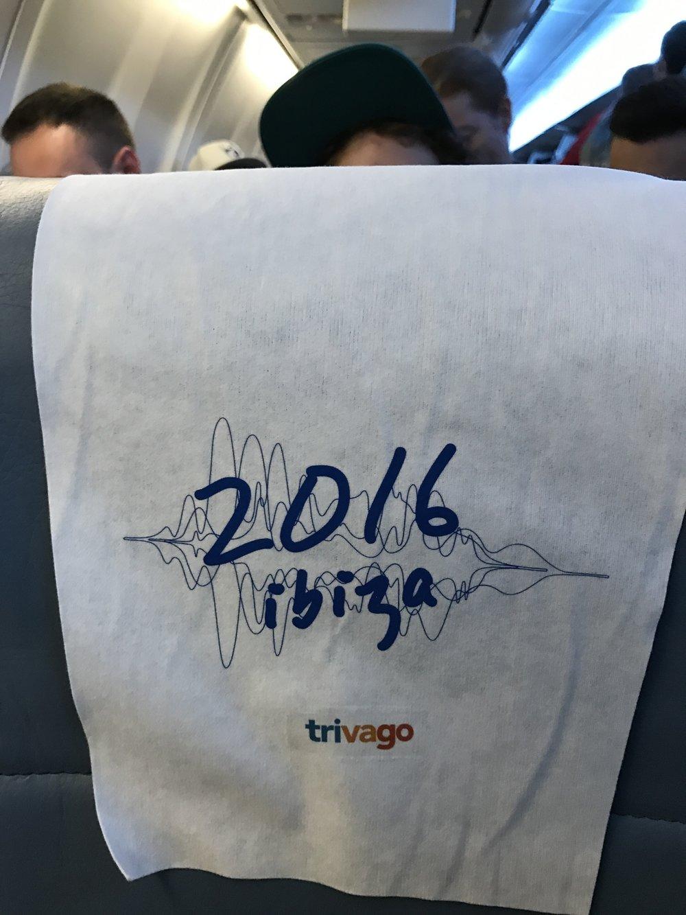 trivago on tour ibiza airplane