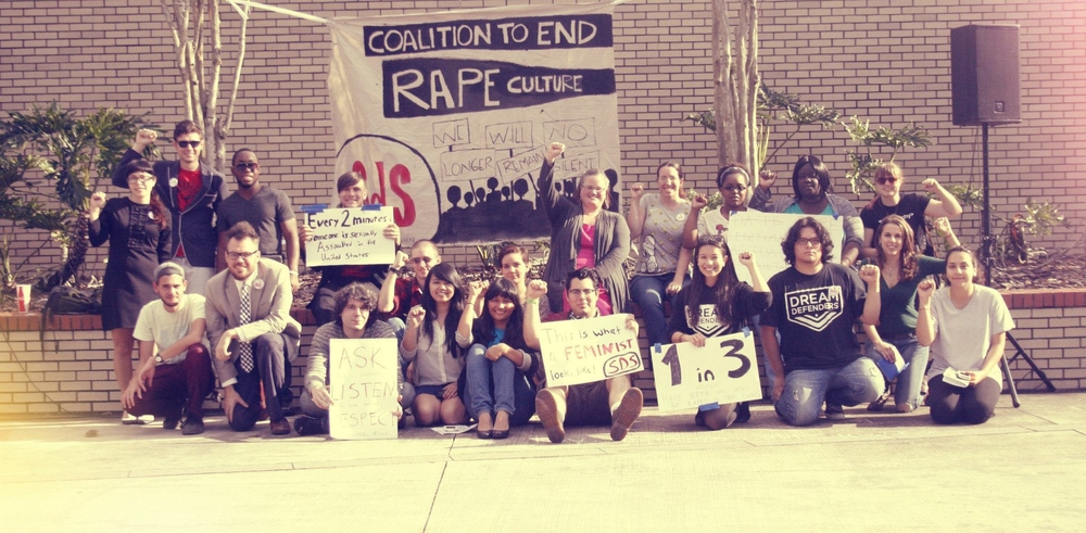 The Coalition to End Rape Culture (CERC) spearheaded by Tampa Bay Students for a Democratic Society (SDS) and joined the  Dream Defenders  and other campus organizations held its kickoff teach-in at the University of South Florida (USF)