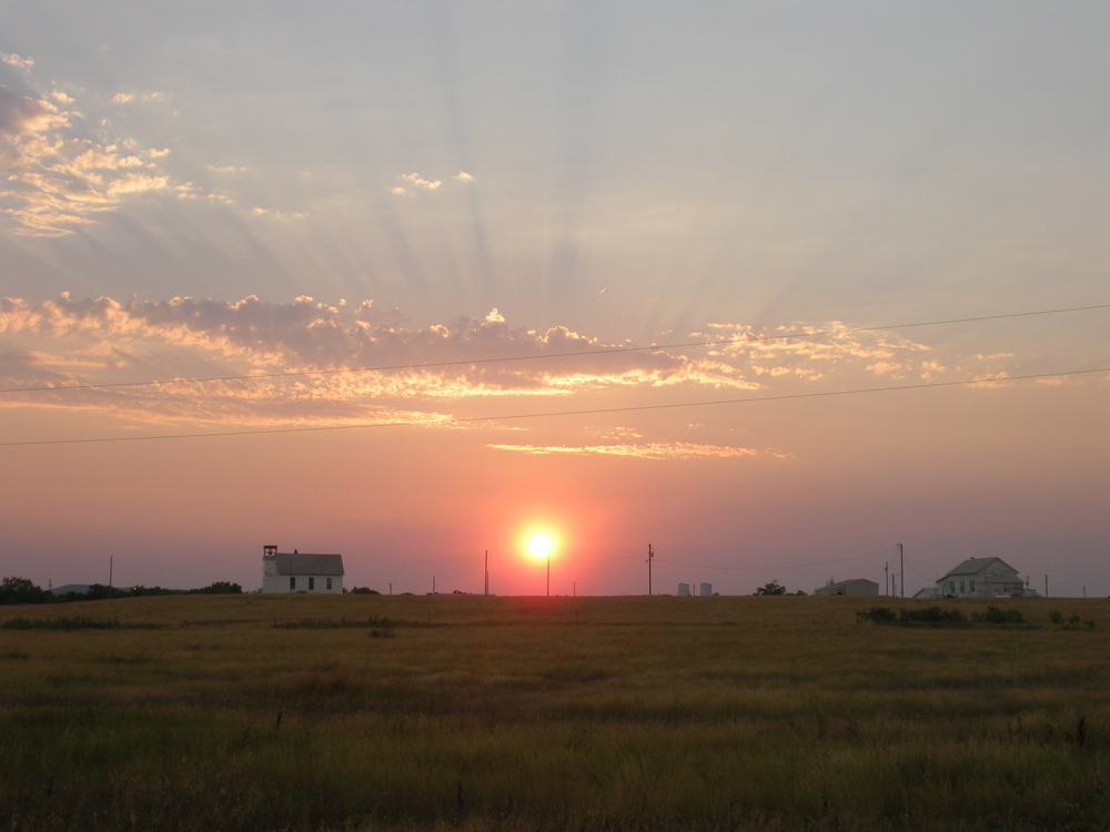 Sunset over the Reservation (August 2013, A. Gross)