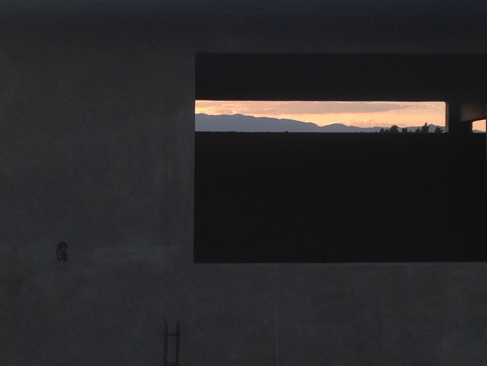 Oaxacan mountains, framed.