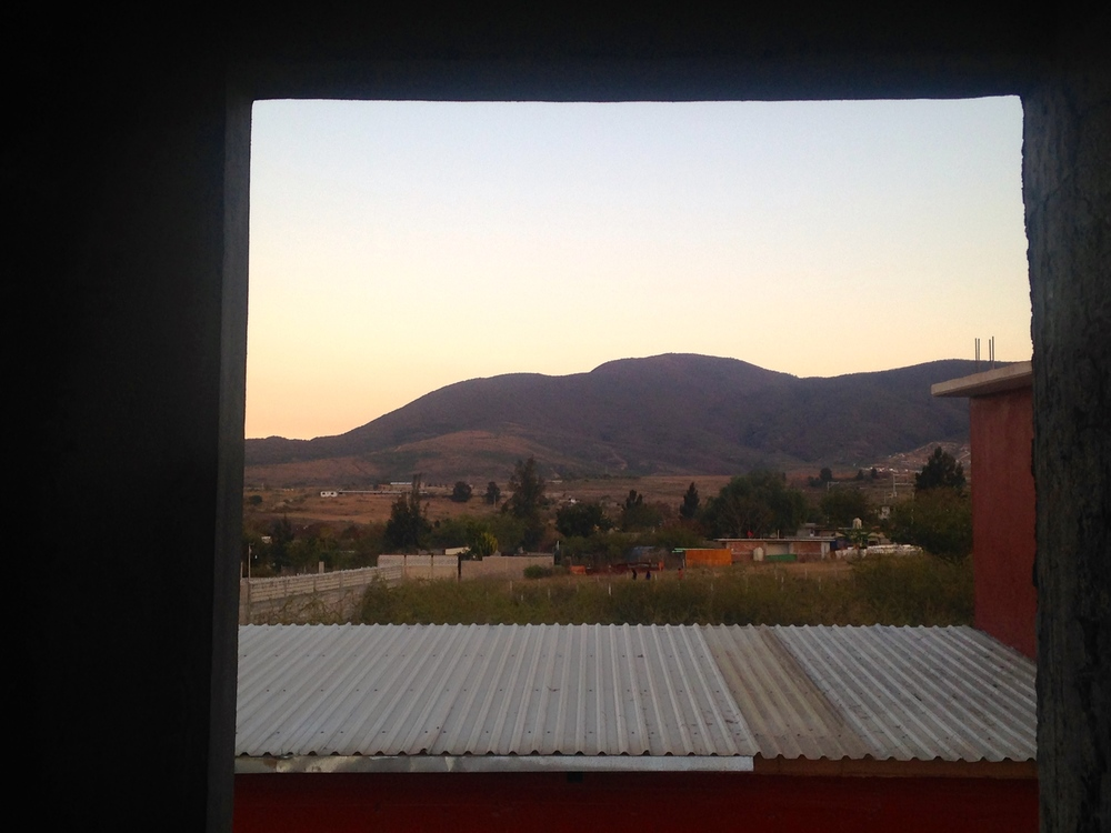 A view of the Oaxacan Mountains from the Simply Smiles Center of Operations, standing from inside our new dormitories.