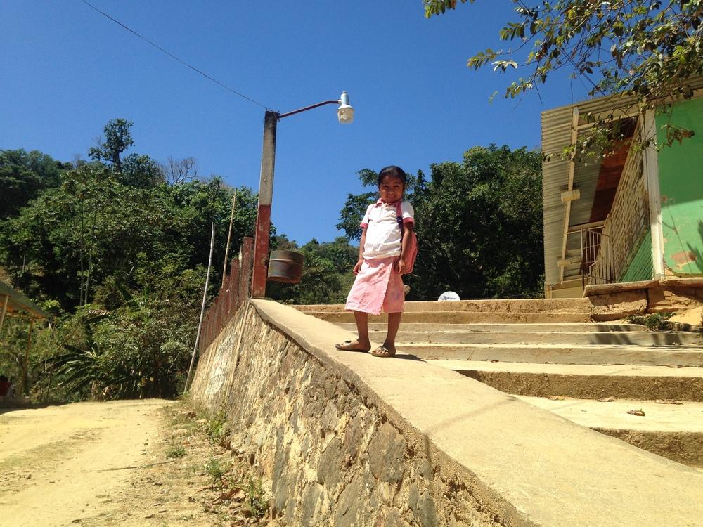 A schoolgirl in Santa Maria Tepexipana