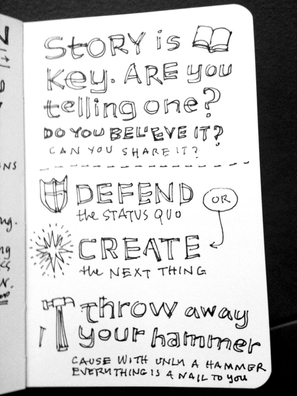 Seth Godin quote about brand marketing and copywriting