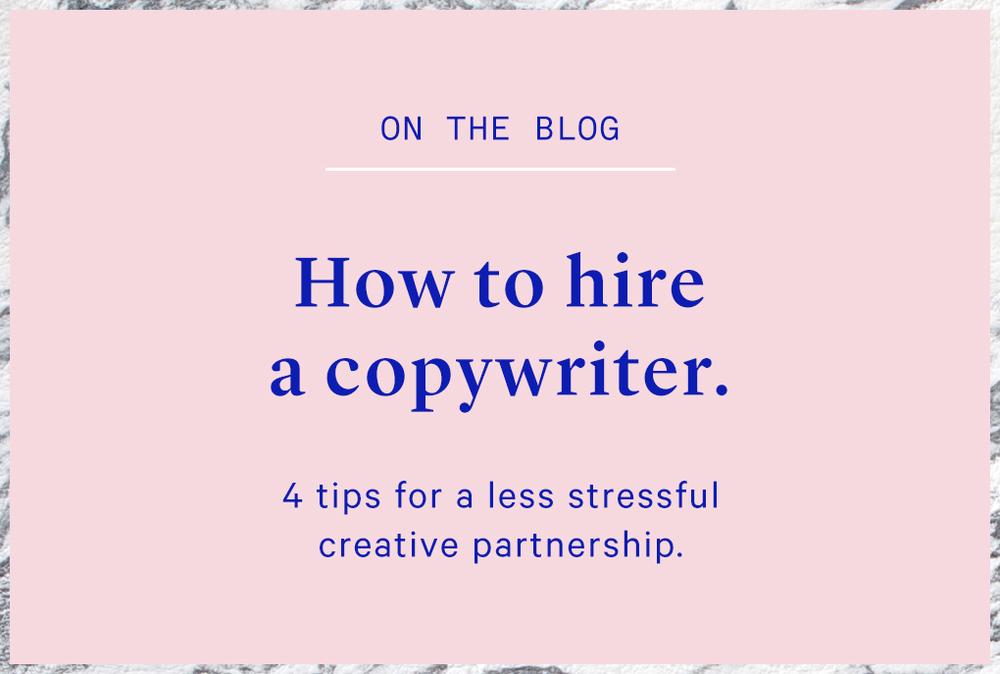 Copywriter for hire