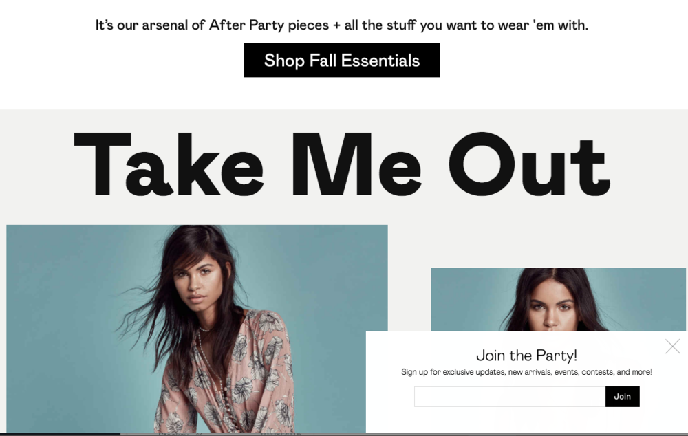 Fashion copywriting from the Nasty Gal website.