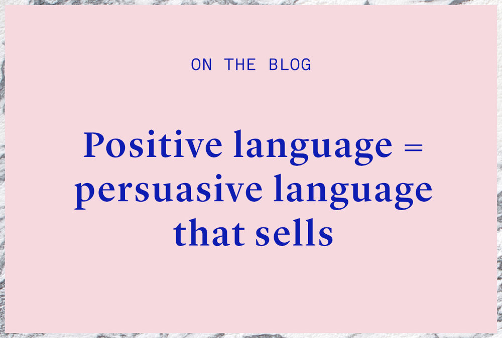 positive language in seo copywriting