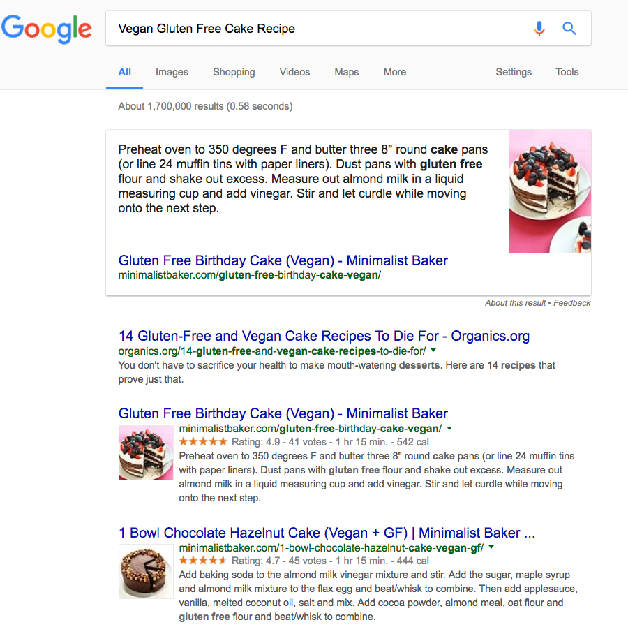 vegan gluten free cake recipe boost your google ranking