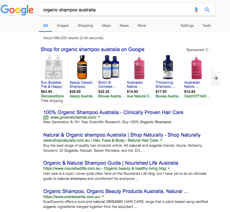 nourished life uses semantics, seo and empathy to boost their google ranking